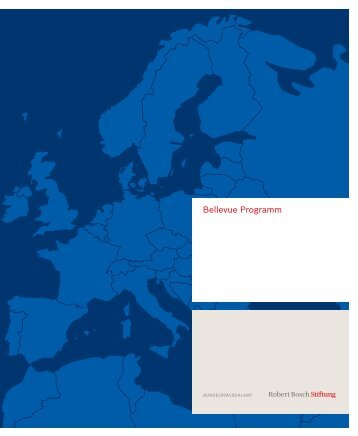 Broschüre Bellevue Programm 2010/2011 - Robert Bosch Stiftung