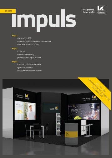 pdf impuls 05/2013 - Rhenus Lub