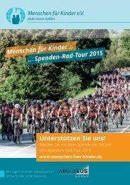 Menschen für Kinder e. V. Spenden-Rad-Tour 2015: Unterstützen Sie uns!