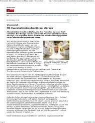 Mit Cyanobakterien den Körper stärken - Institut für Molekulare ...