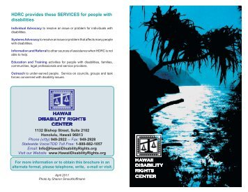 HDRC protects and advocates for the RIGHTS of people - Hawaii ...