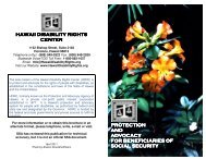 (PABSS) Brochure - Hawaii Disability Rights Center