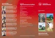 Agrartechnik: Einzigartig in Hohenheim Studieren mit ... - STUDIUM
