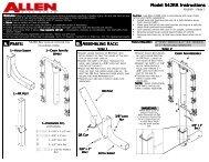 542RR Instructions - Allen Sports USA