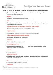 Quiz answers - Britannica Spotlights