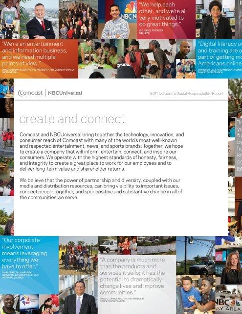 Corporate Social Responsibility Supplier Diversity - Comcast