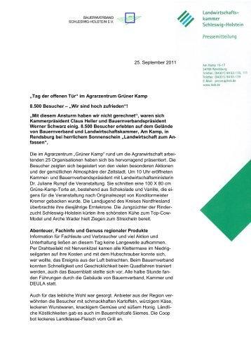 Presse Info der Kammer - Interessenkreis Schwentine-Eisvogel