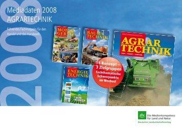 Mediadaten 2008 AGRARTECHNIK
