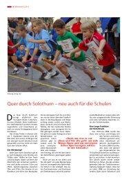Quer durch Solothurn – neu auch für die Schulen