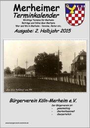 Merheimer Terminkalender 2. Halbjahr 2015