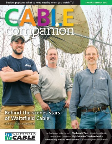 Spring/Summer Cable Magazine - Waitsfield Cable