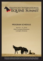 view complete schedule of events - Horse TV