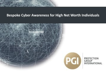Bespoke Cyber Awareness for High Net Worth Individuals