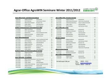 Agrar-Office AgroWIN Seminare Winter 2011/2012