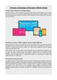 7 Business Advantages of Receptive Website Design