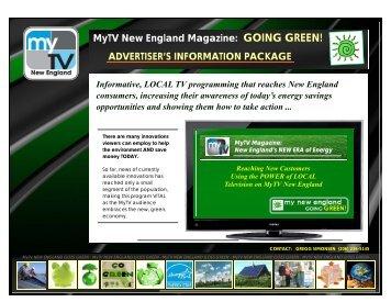 MyTV New England Magazine: GOING GREEN! ADVERTISER'S ...