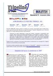 Intalnire de lucru si conferinta in 2007 APROBAREA CE ... - EPEA