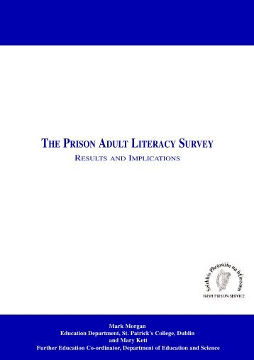 the prison adult literacy survey: results and implications - EPEA