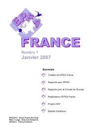 Janvier 2007 - EPEA