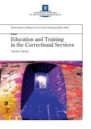 Education and Training in the Correctional Services - EPEA