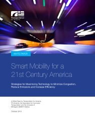 Smart Mobility for a 21st Century America - Transportation for America