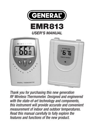 EMR813 MANUAL-FINAL-82407 - General Tools And Instruments