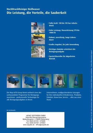 011545-Wap Hot Water 03 - WAP-ALTO KEW Reinigungssysteme
