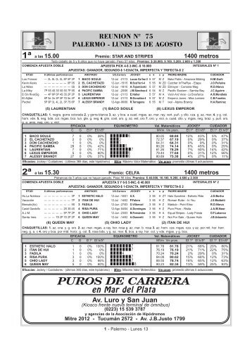 PUROS DE CARRERA - SPC.com.ar