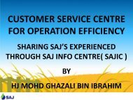 Customer Services Centre for Operation Efficiency - Malaysian ...