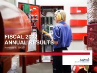 Fiscal 2012 reports - Sodexo