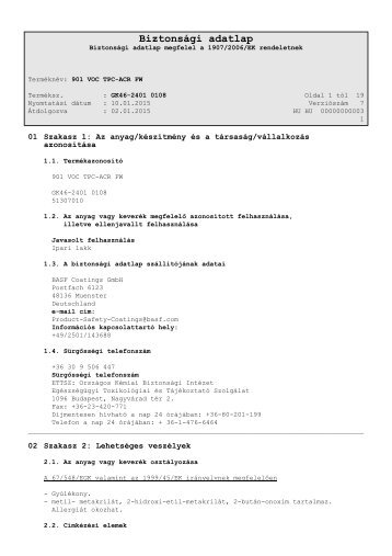 Biztonsági adatlap - Salcomix