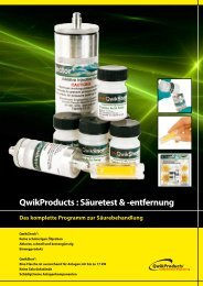 QwikShot & QwikCheck Broschüre - Advanced Engineering