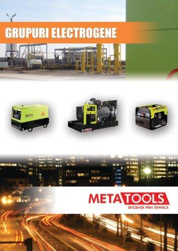Broșură generatoare de curent electric METATOOLS