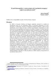 El perfil demográfico y socioeconómico de la población uruguaya ...