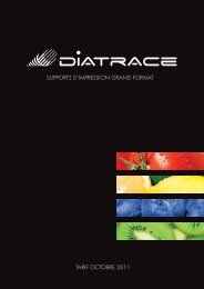 supports d·impression grand format tarif octobre 2011 - Diatrace