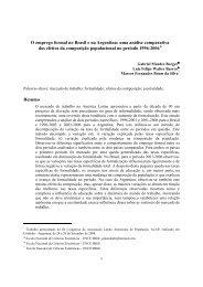 O emprego formal no Brasil e na Argentina: uma análise ...