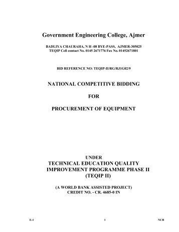 teqip ii - Engineering College Ajmer