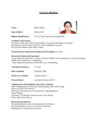 FACULTY PROFILE Name: Rekha Mehra Date of Birth: 08 July 1967 ...