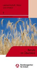 8 Landwirtschaft, Natur und Umwelt - Bundesagentur für Arbeit