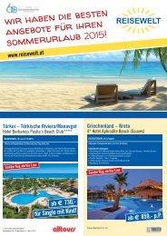 Wir haben die besten Angebote für ihren Sommerurlaub