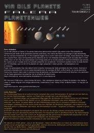 Flyer Planetenweg