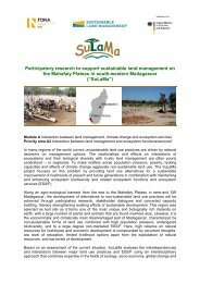 Participatory research to support sustainable land management on ...