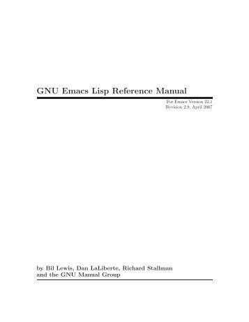 GNU Emacs Lisp Reference Manual - FTP
