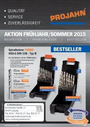 Präzisionswerkzeuge Frühjahr-Sommer 2015 II