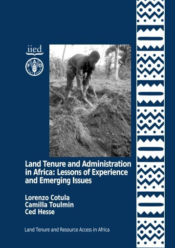 Land Tenure and Administration in Africa - IIED - International ...