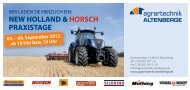 new holland & horsch praxistage - Agrartechnik Altenberge GmbH