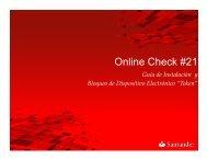 On Line Check 21 Guías de Instalación - Santander
