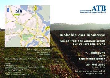 Biokohle aus Biomasse – Ein Beitrag der Landwirtschaft - ATB