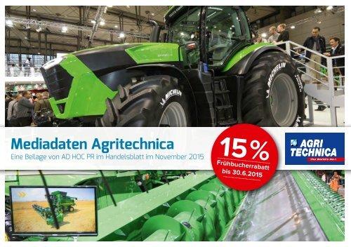 Mediadaten Agritechnica 2015