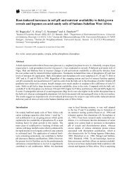 Root-induced increases in soil pH and nutrient ... - Universität Kassel